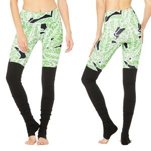 •Alo Yoga• NEW Goddess Leggings Palm Spring Print
